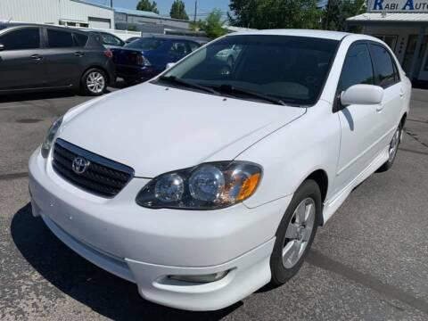2006 Toyota Corolla for sale at RABI AUTO SALES LLC in Garden City ID