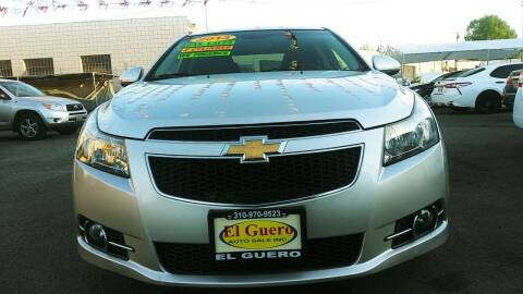 2013 Chevrolet Cruze for sale at El Guero Auto Sale in Hawthorne CA