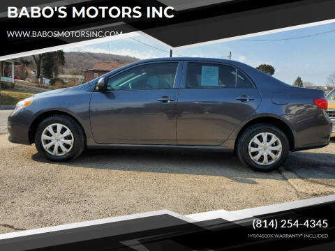 2009 Toyota Corolla for sale at BABO'S MOTORS INC in Johnstown PA