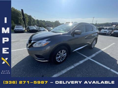 2017 Nissan Murano for sale at Impex Auto Sales in Greensboro NC