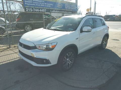 2016 Mitsubishi Outlander Sport for sale at LaBate Auto Sales Inc in Philadelphia PA