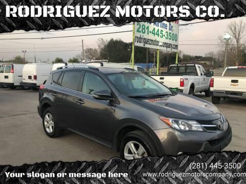2014 Toyota RAV4 for sale at RODRIGUEZ MOTORS CO. in Houston TX