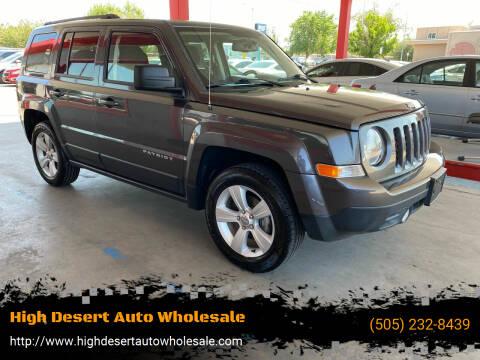 2016 Jeep Patriot for sale at High Desert Auto Wholesale in Albuquerque NM