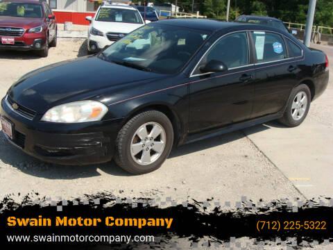 2010 Chevrolet Impala for sale at Swain Motor Company in Cherokee IA