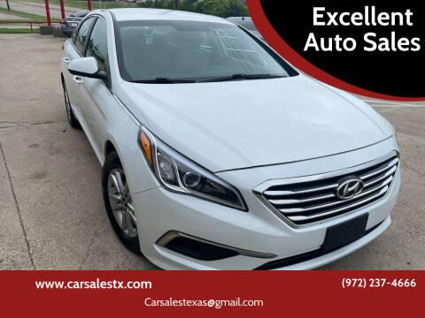 2016 Hyundai Sonata for sale at Excellent Auto Sales in Grand Prairie TX