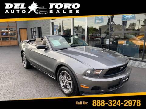 2011 Ford Mustang for sale at DEL TORO AUTO SALES in Auburn WA