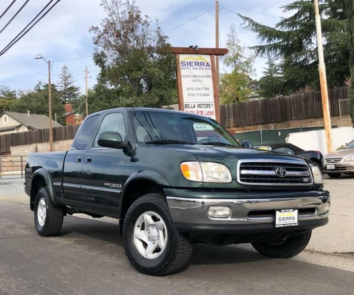 2000 Toyota Tundra for sale at Sierra Auto Sales Inc in Auburn CA