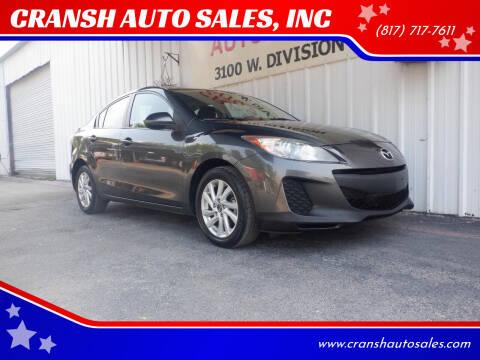 2013 Mazda MAZDA3 for sale at CRANSH AUTO SALES, INC in Arlington TX