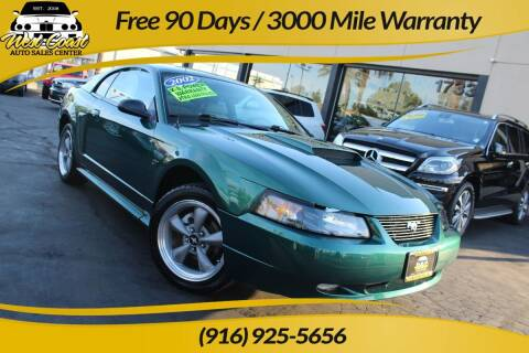 2002 Ford Mustang for sale at West Coast Auto Sales Center in Sacramento CA