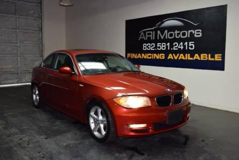 2008 BMW 1 Series for sale at ARI Motors in Houston TX
