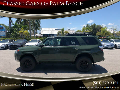 2020 Toyota 4Runner for sale at Classic Cars of Palm Beach in Jupiter FL