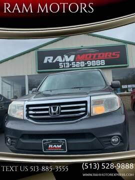 2012 Honda Pilot for sale at RAM MOTORS in Cincinnati OH