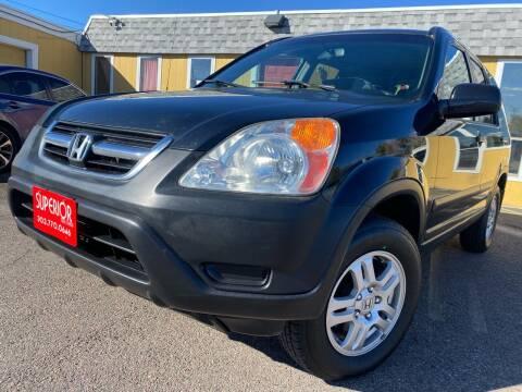 2003 Honda CR-V for sale at Superior Auto Sales, LLC in Wheat Ridge CO