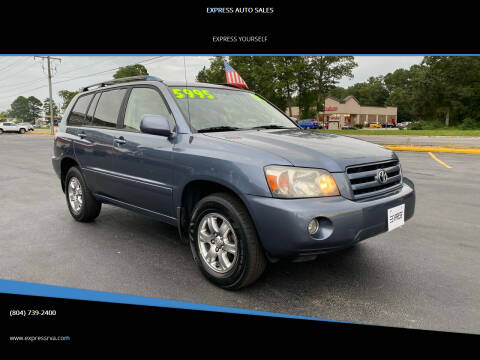 2006 Toyota Highlander for sale at EXPRESS AUTO SALES in Midlothian VA