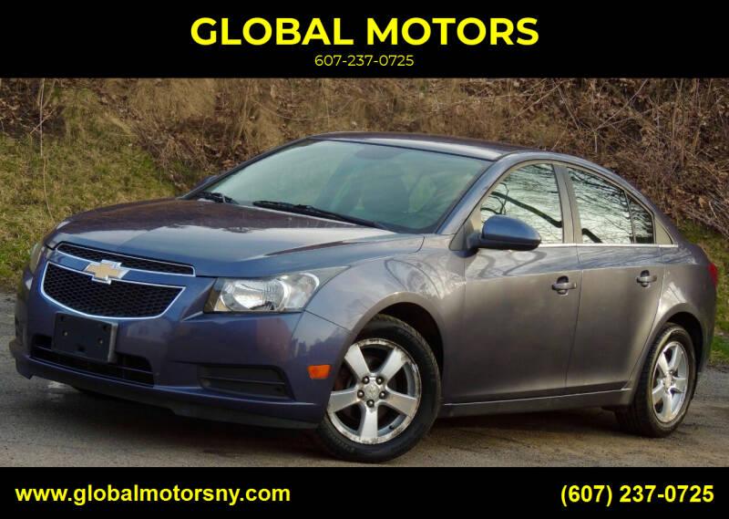 2014 Chevrolet Cruze for sale at GLOBAL MOTORS in Binghamton NY