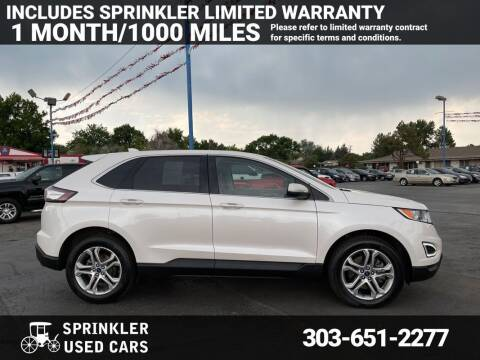 2017 Ford Edge for sale at Sprinkler Used Cars in Longmont CO
