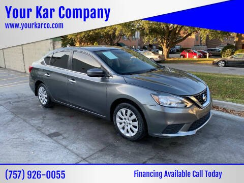 2016 Nissan Sentra for sale at Your Kar Company in Norfolk VA
