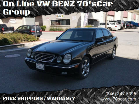 2002 Mercedes-Benz E-Class for sale at On Line VW BENZ 70'sCar Group in Warehouse CA