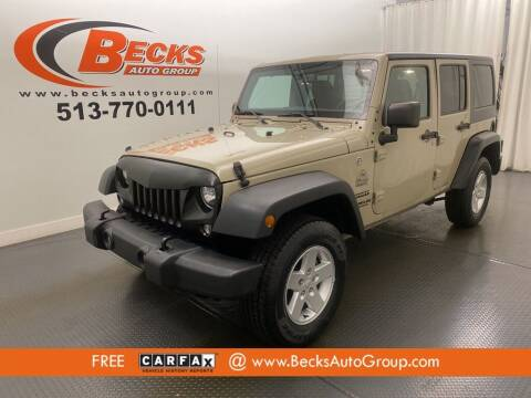 2017 Jeep Wrangler Unlimited for sale at Becks Auto Group in Mason OH