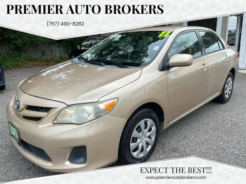 2011 Toyota Corolla for sale at Premier Auto Brokers in Virginia Beach VA