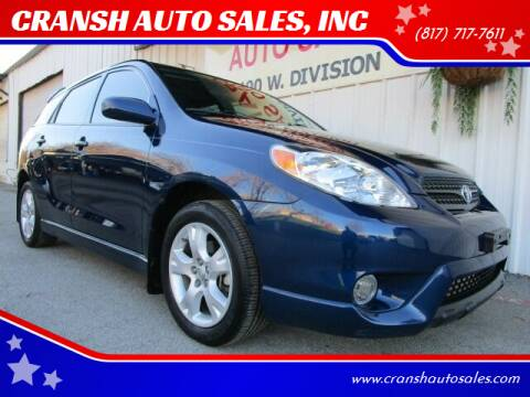 2008 Toyota Matrix for sale at CRANSH AUTO SALES, INC in Arlington TX