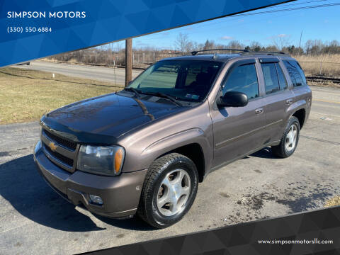 2008 Chevrolet TrailBlazer for sale at SIMPSON MOTORS in Youngstown OH