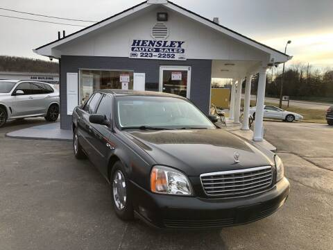2000 Cadillac DeVille for sale at Hensley Auto Sales in Frankfort KY