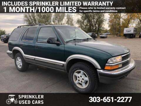 1998 Chevrolet Blazer for sale at Sprinkler Used Cars in Longmont CO