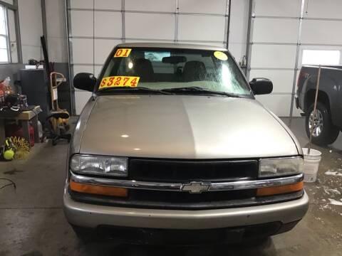 2001 Chevrolet S-10 for sale at K & E Auto Sales in Ardmore AL