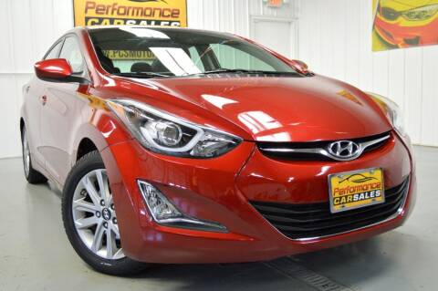 2015 Hyundai Elantra for sale at Performance car sales in Joliet IL