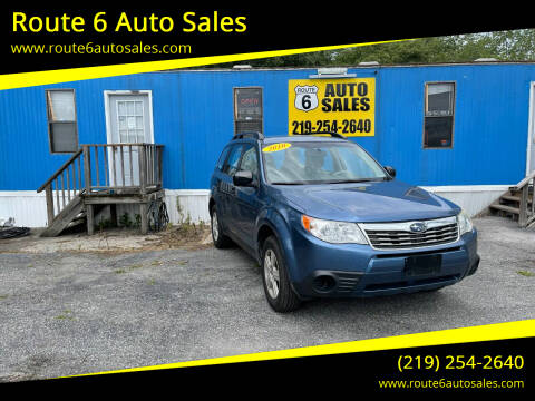 2010 Subaru Forester for sale at Route 6 Auto Sales in Portage IN