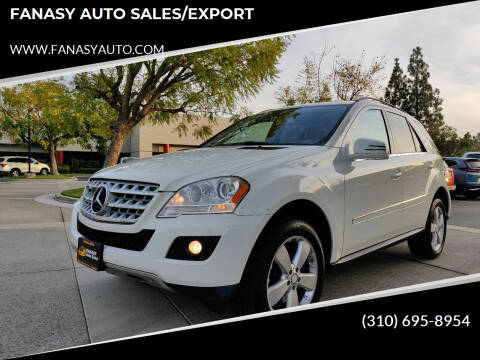 2011 Mercedes-Benz M-Class for sale at FANASY AUTO SALES/EXPORT in Yorba Linda CA