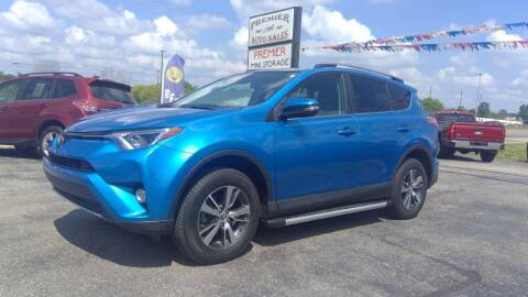 2018 Toyota RAV4 for sale at Premier Auto Sales Inc. in Big Rapids MI
