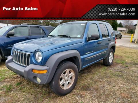 2003 Jeep Liberty for sale at Par Auto Sales in Lenoir NC