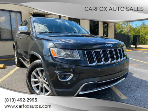 2014 Jeep Grand Cherokee for sale at Carfox Auto Sales in Tampa FL