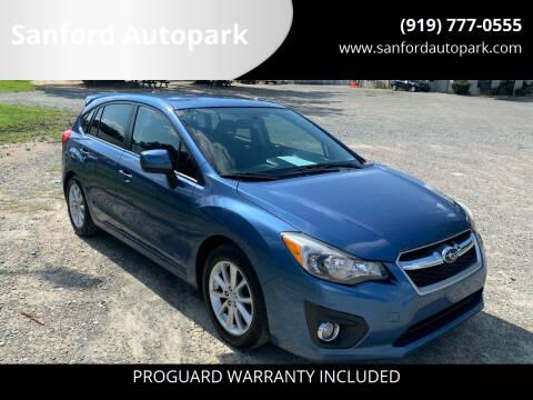 2014 Subaru Impreza for sale at Sanford Autopark in Sanford NC