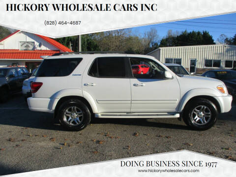 2005 Toyota Sequoia for sale at Hickory Wholesale Cars Inc in Newton NC
