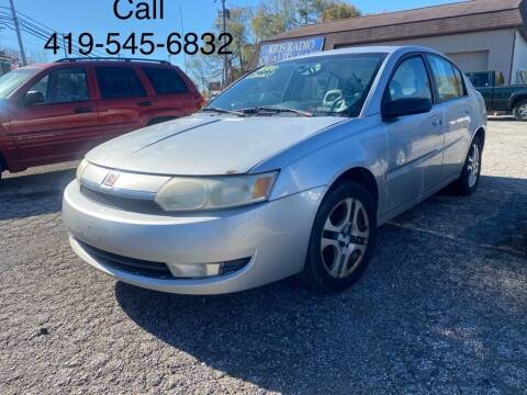 2003 Saturn Ion for sale at KRIS RADIO QUALITY KARS INC in Mansfield OH