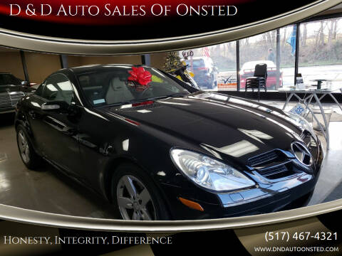 2008 Mercedes-Benz SLK for sale at D & D Auto Sales Of Onsted in Onsted   Brooklyn MI