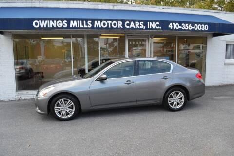 2010 Infiniti G37 Sedan for sale at Owings Mills Motor Cars in Owings Mills MD