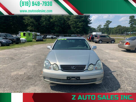2002 Lexus GS 300 for sale at Z Auto Sales Inc. in Rocky Mount NC