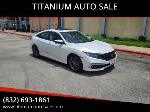 2020 Honda Civic for sale at TITANIUM AUTO SALE in Houston TX