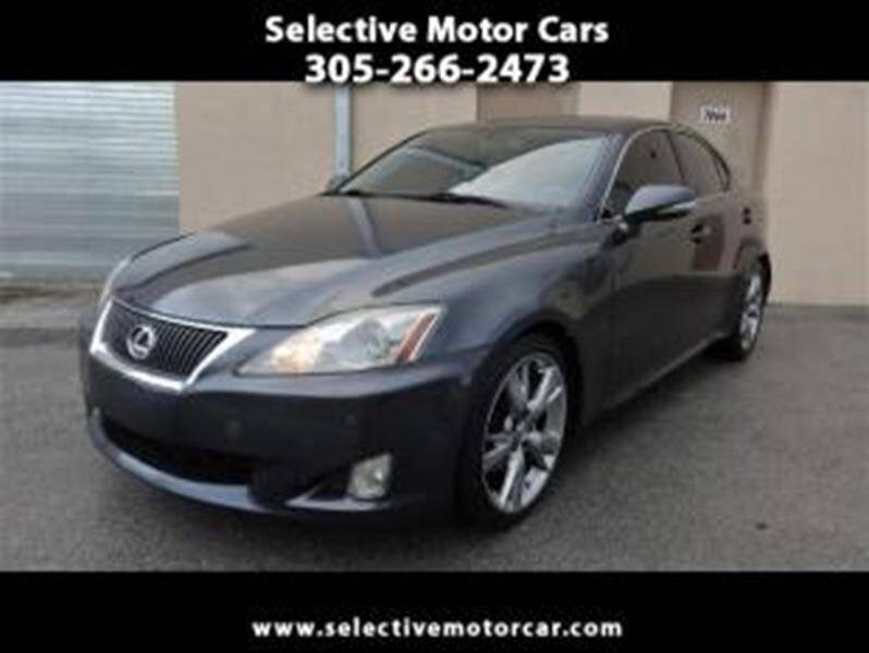 2009 Lexus IS 250 for sale at Selective Motor Cars in Miami FL