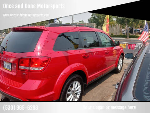 2014 Dodge Journey for sale at Once and Done Motorsports in Chico CA