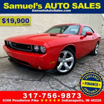 2014 Dodge Challenger for sale at Samuel's Auto Sales in Indianapolis IN