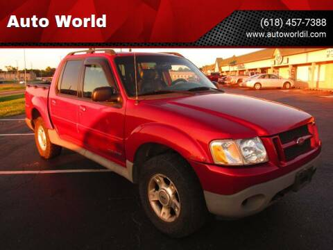 2002 Ford Explorer Sport Trac for sale at Auto World in Carbondale IL