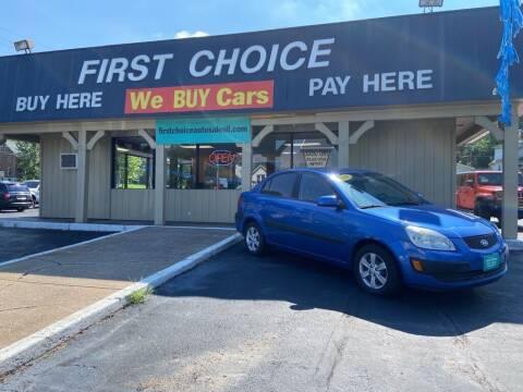 2008 Kia Rio for sale at First Choice Auto Sales in Rock Island IL