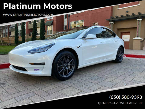 2018 Tesla Model 3 for sale at Platinum Motors in San Bruno CA