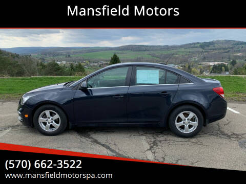 2015 Chevrolet Cruze for sale at Mansfield Motors in Mansfield PA