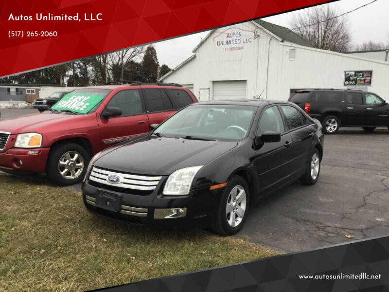 2008 Ford Fusion for sale at Autos Unlimited, LLC in Adrian MI